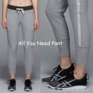 Super Comfy Lululemon All you need joggers size 12